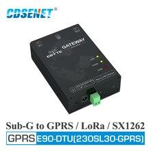 E90 DTU(230SL30 GPRS) לורה GPRS 30dBm 230MHz SX1262 הרשות LNA USB ממשק אלחוטי משדר מקלט מודם