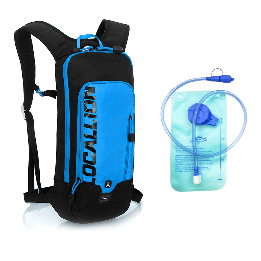 Bicycle Backpack Water Bag Cycling Backpack MTB Road Waterproof Reflective Bike Water Bladder Climbing Cycling Pouch Blue Red roswheel 22l ultralight cycling mountain bike bag hydration pack water backpack reflective bicycle bike hiking climbing pouch