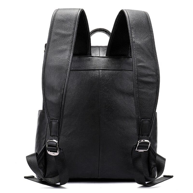MVA мужской рюкзак из натуральной кожи, винтажные дорожные сумки, мужская деловая сумка для ноутбука, мужская сумка из воловьей кожи, черные сумки на плечо 6115 - 3