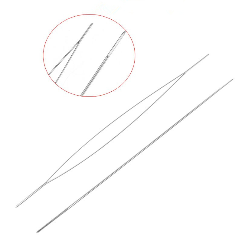DoreenBeads Beading Needles Threading String/Cord Jewelry Tool Dull Silver Color 5.7cm,5PCs