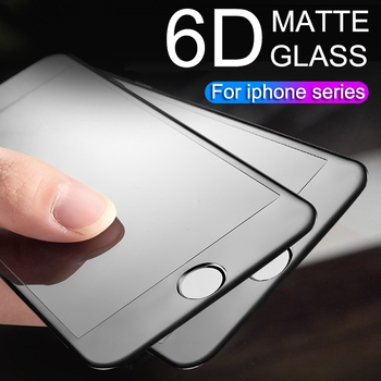 6d full coverage protective matte glass screen for iphone 6 7 6s 8 plus x xs max xr