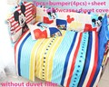 Promotion! 6/7PCS Mickey Mouse Baby Bedding Sets Bed Set In The Cot Bed linen Quilt Cover Bumpers Pillowcase,120*60/120*70cm