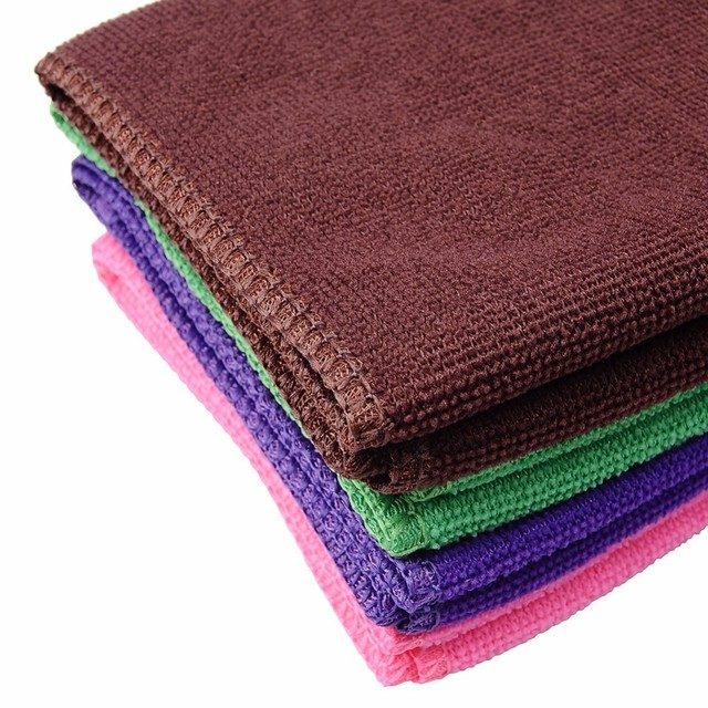 1pcs 30*70cm Absorbent Pet Dog Bath Towel Microfiber Solid Cat Drying Towel Pet Daily Supplies color randomly