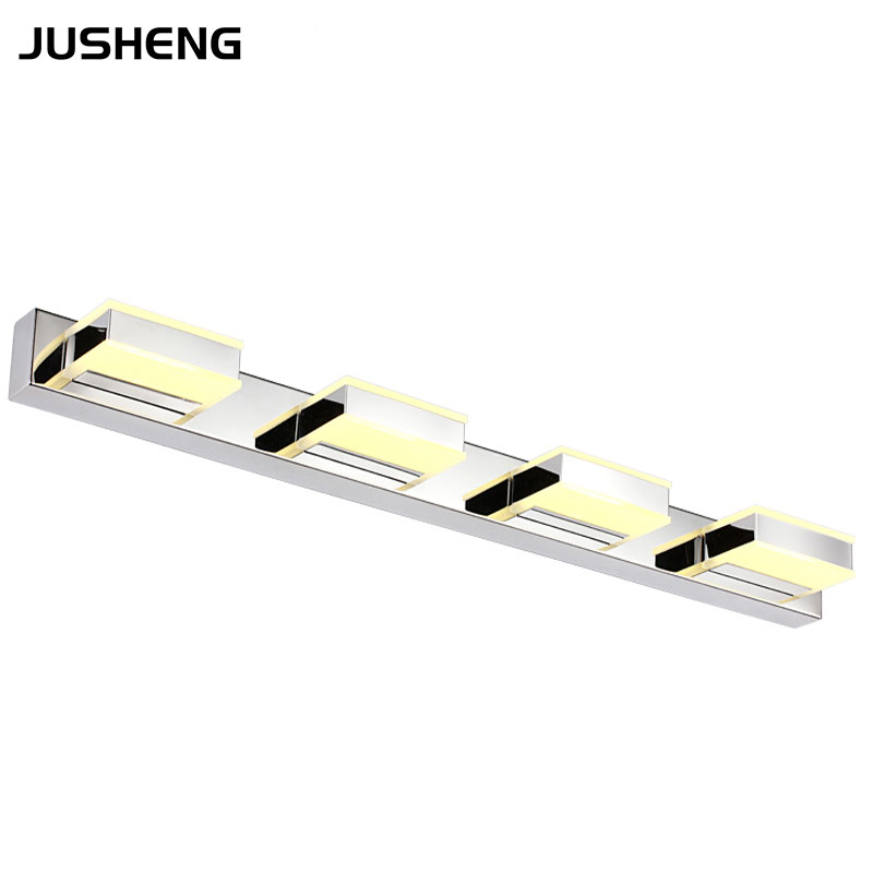 JUSHENG Modern LED Wall Lamps Indoor 4-lights Bathroom Light fixtures Indoor Square Mirror Lighting Fixtures 110V / 220VJUSHENG Modern LED Wall Lamps Indoor 4-lights Bathroom Light fixtures Indoor Square Mirror Lighting Fixtures 110V / 220V