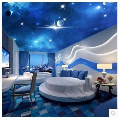 Aliexpress com Buy ceiling large mural 3D stereoscopic living room bedroom  Zenith wallpaper The star sky. Sky Bedroom