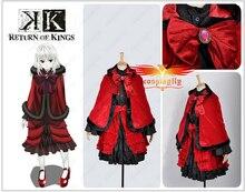 Por encargo Anime Anna Kushina invierno rojo y negro Outfit Cosplay traje de Halloween