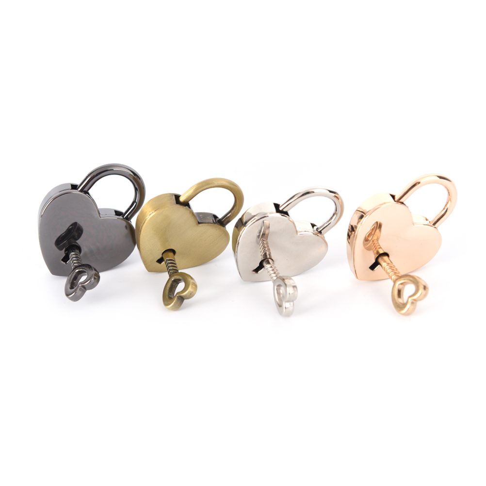Tiny Luggage Bag Case Lock With Keys Mini Padlock Small Love Heart Shape Padlock Zinc Alloy Suitcase Locker