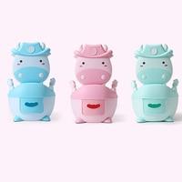 Children's Potty Bowl Pot Training Toilet Kids Cartoon Baby Pot Cute Toilet Seat Pot For Potty Training Seat with Soft Mat
