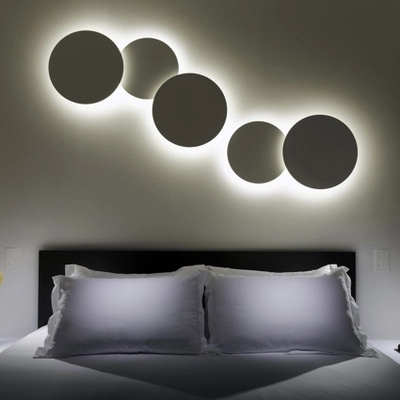 LED Creative Living Room Combination Round Wall Lamps Modern Minimalist Bedroom Staircase Personality Iron Lamp 20cm 30cm 35cm k1rf ltech one way touch switch panel ac200 240v input can work with vk remote page 7