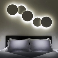 LED Creative Living Room Combination Round Wall Lamps Modern Minimalist Bedroom Staircase Personality Iron Lamp 20cm 30cm 35cm