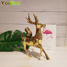 Bronze Lucky Deer Decoration Home Small Animal Gift Support Customize Other Styles