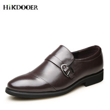 New Arrival Men Genuine Leather Shoes Slip On Business Shoes For men sapato social masculino Male Dress Shoes недорого