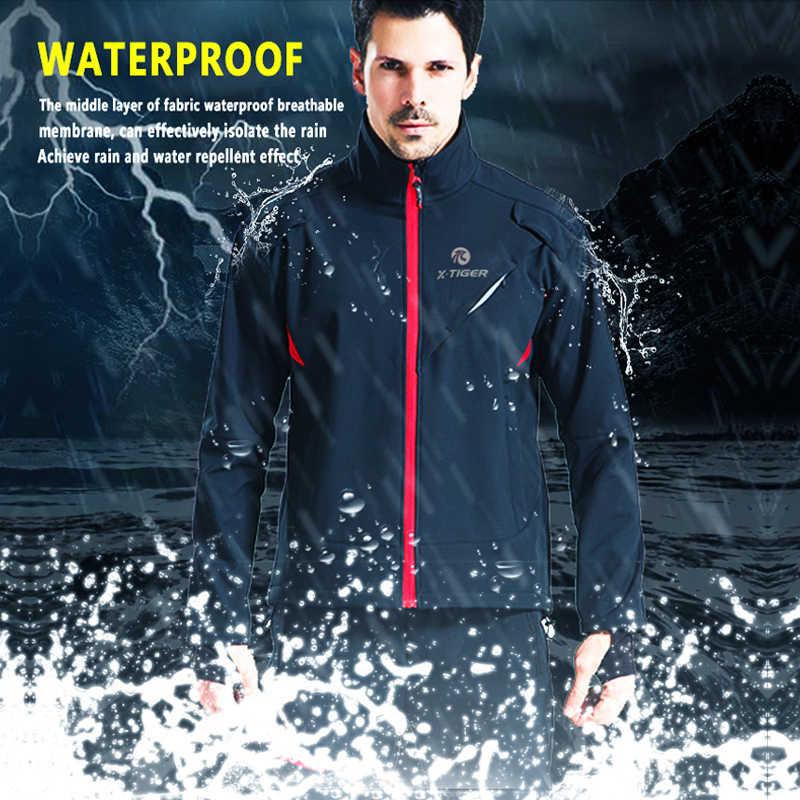 X-TIGER, зимняя Флисовая теплая велосипедная куртка, пальто, осенняя теплая велосипедная одежда, ветрозащитная ветровка для горного велосипеда, трикотажная одежда