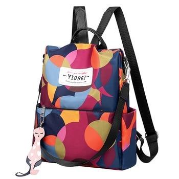 714e7326047e Водонепроницаемый женский рюкзак Оксфорд Многофункциональный рюкзак  повседневный Противоугонный рюкзак для девочек-подростков школьный .