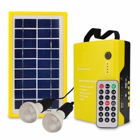 Solar Panel Mobile Power Rechargeable With Audio Function Speaker Portable Remote Control Support TF Card With