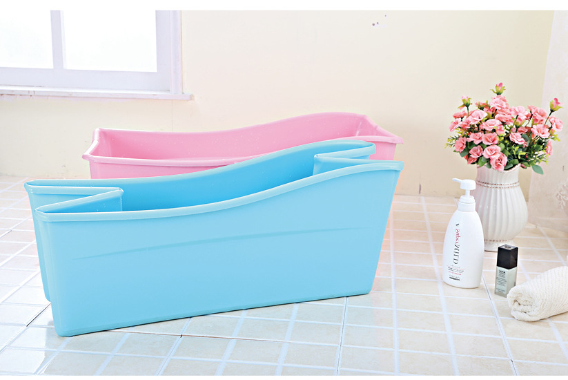 Hot Sale Baby Bathtub With Safety Protection Bath Seat Support Kids Shower Tubs Folding Tub Basin Newborn