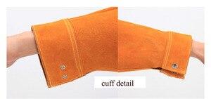 Image 4 - גברים עבודה פרה עור סרבל להבה עמיד עור ריתוך בגדים עם כיס לגברים/נשים לעבודות עץ NL003