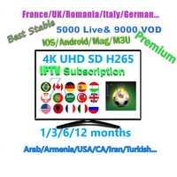 France iptv premium Arabic UHD FHD 4K IPTV m3u subscription 12 months UK Sport German iptv account reseller panel