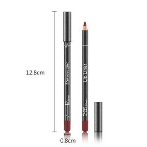 Бренд 12 цветов карандаш для губ телесный матовый увлажняющий водостойкий стойкий карандаш для ГУБНОЙ ПОМАДЫ профессиональный набор для макияжа