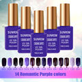 Sunrim Vernis Semi Permanent UV Gel Polish 15ml Esmalte Permanente Gel Lacquer Nagellak Purple Colored Gel Nail Polish