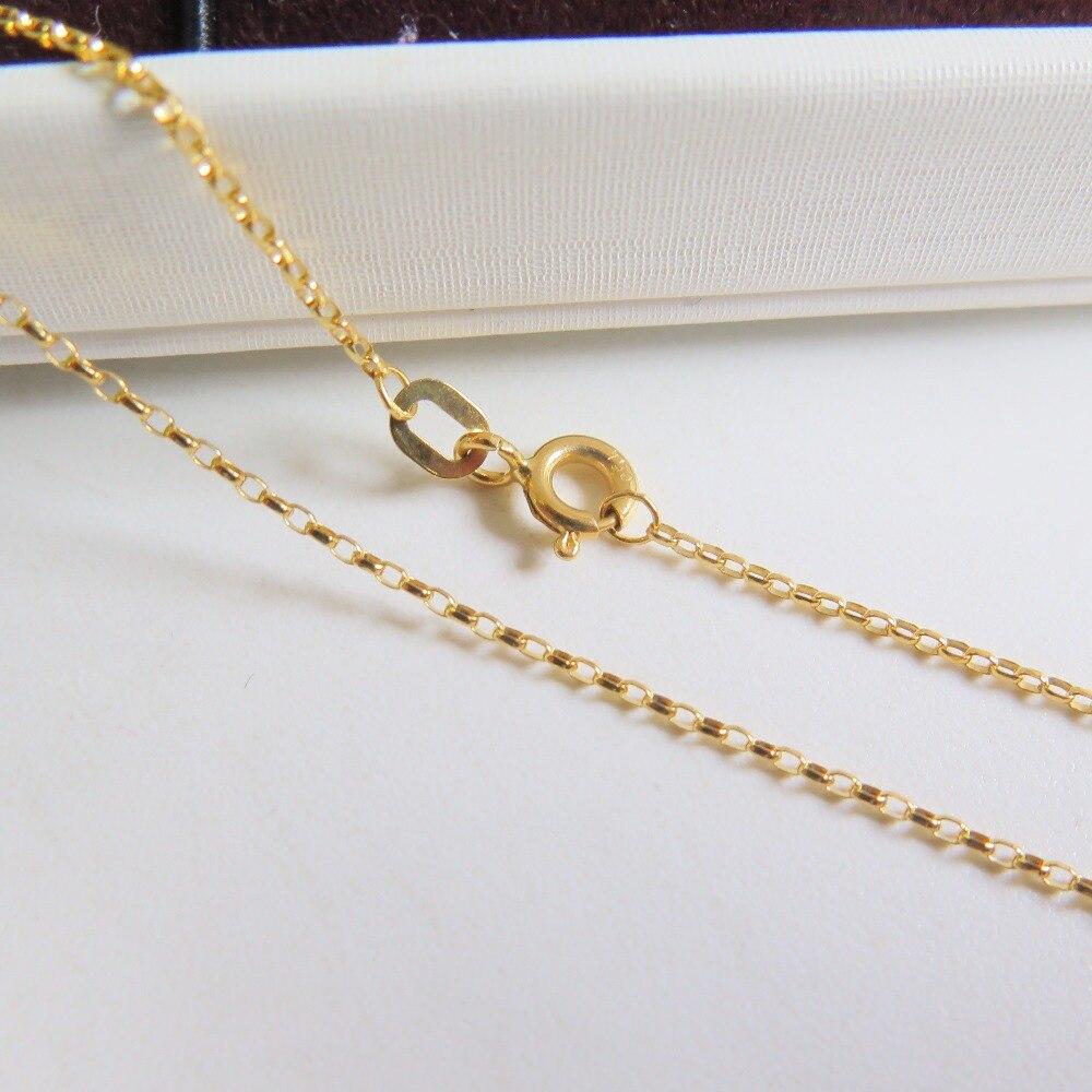 Au750 18 K or jaune collier femmes & hommes Rolo maillon de chaîne 18