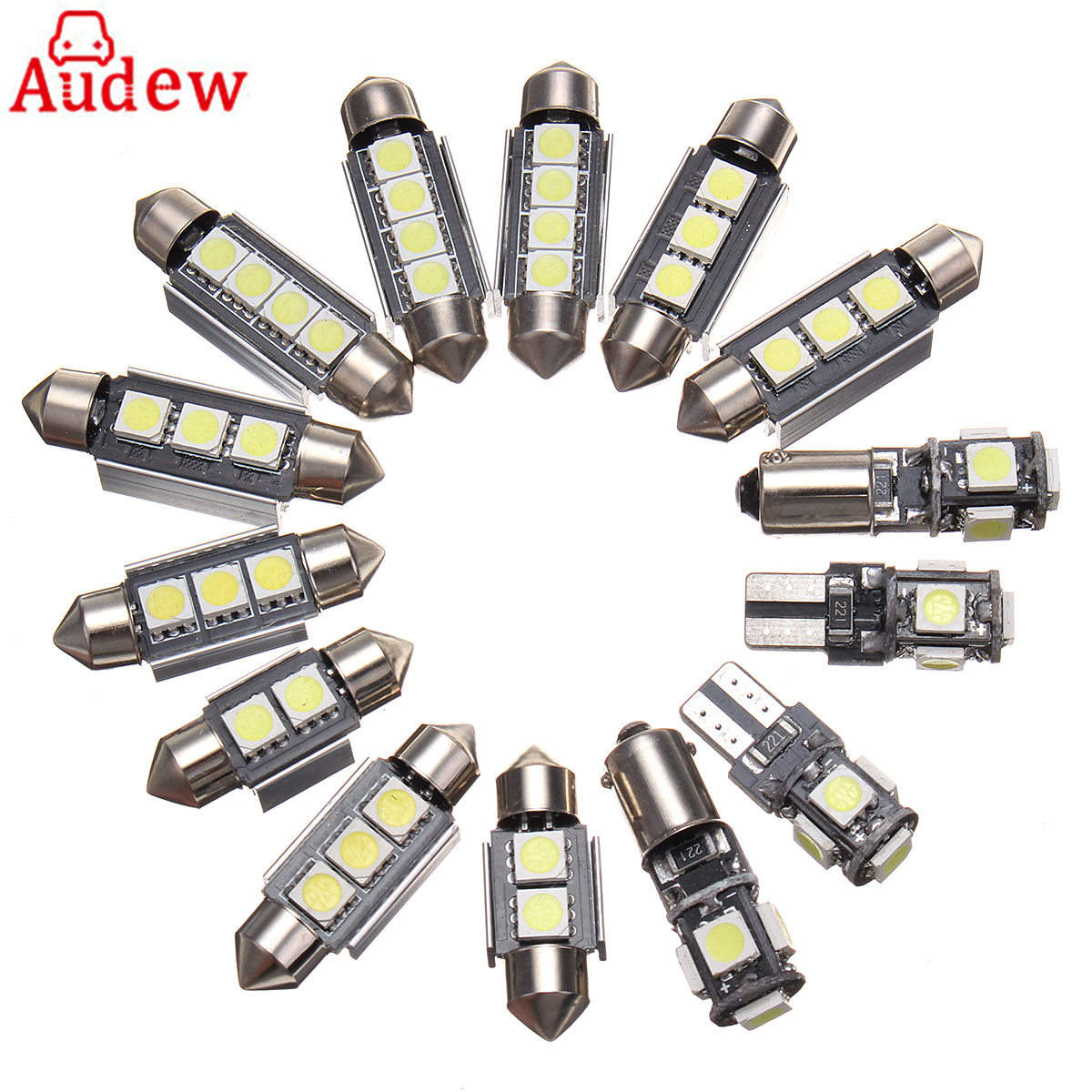 for Volkswagen Passat B6 06-10 14Pcs Car White Interior LED Light Lamp Kit With Tool for volkswagen passat b6 b7 b8 led interior boot trunk luggage compartment light bulb