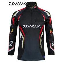 Стиль 6 размер Одежда для рыбалки быстросохнущая одежда Daiwa анти-УФ рыболовные жилеты DAIWA куртка dawa, рыболовство одежда