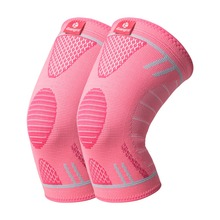 Kuangmi 1 Pair Volleyball Basketball Sports Knee Support Braces Elastic Nylon Compression Pad Protector Guard for Women Men