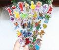 4 листов/комплект улица сезам 3D наклейки для детей Домашнего декора стен на ноутбуке милые Подарки для детей в праздничные атрибуты