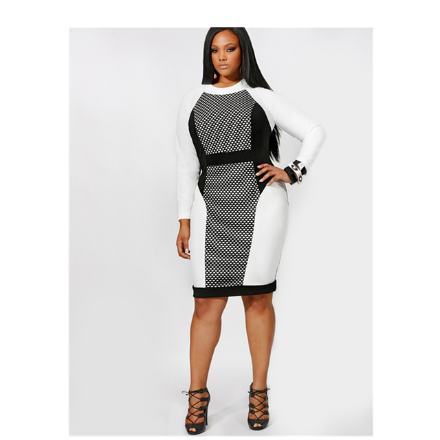 US $18.36 |High quality Long Sleeve Women Elegant Club Dress Plus Size  Vestidos Casual Dresses Office Midi Dress-in Dresses from Women\'s Clothing  on ...