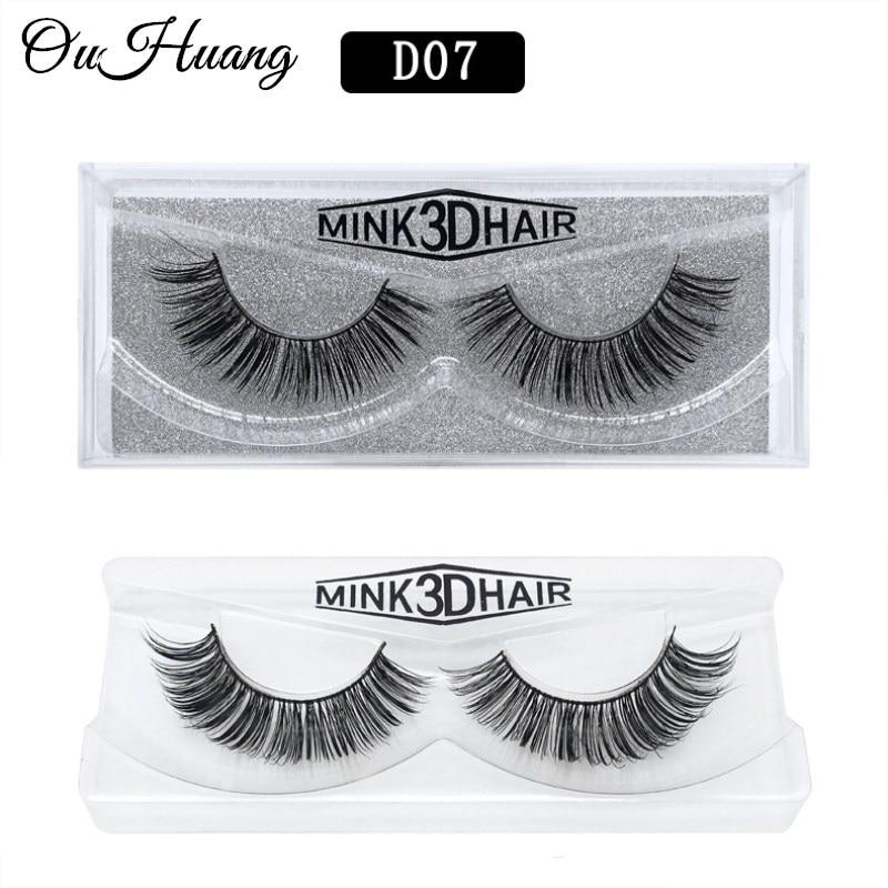 20cbf10549a 1Pair 3D Mink Eyelashes Luxury HandMade Long Lasting Volume Lash Extension  Reusable False Eyelashes Fake Lashes