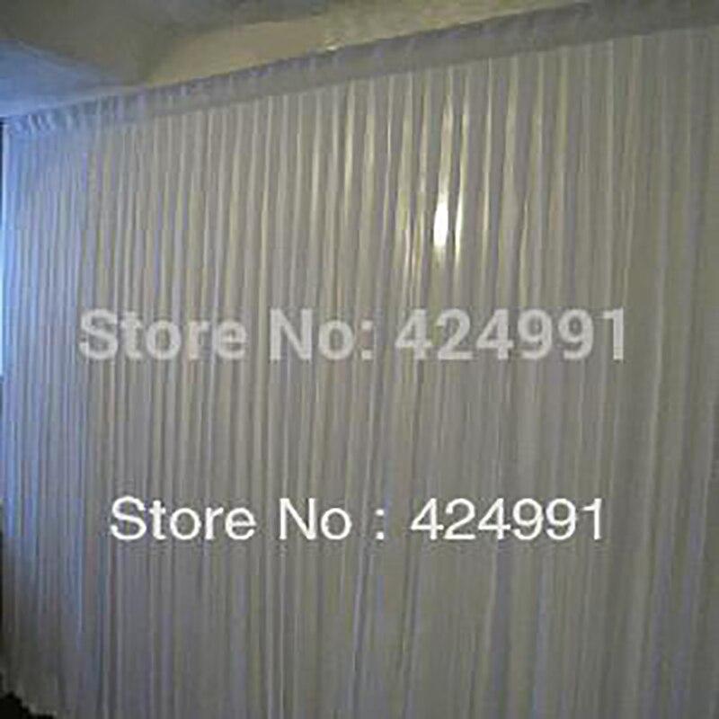 1 pièces couleur 6 M de large x 3 m de hauteur blanc toile de fond mariages rideau pour événements et décoration de fête