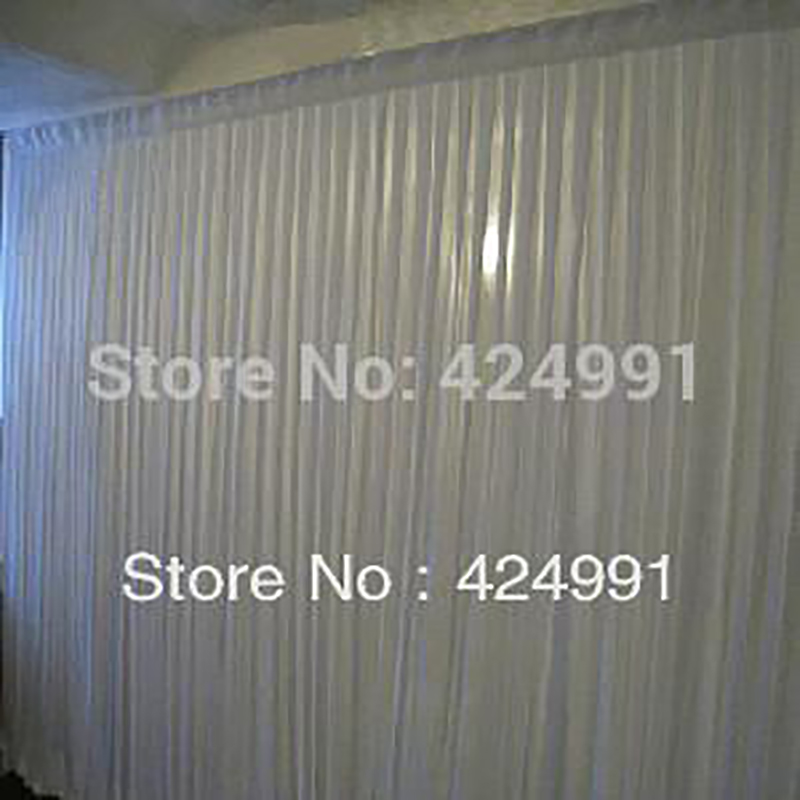 1pcs Color 6M Wide X 3m Height  White BackDrop Weddings Curtain For Events And Party Decoration