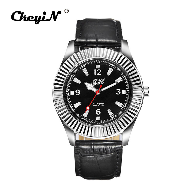 Men's casual watches Army lighter watch Clock Leather Watch Men Flameless Windproof USB Rechargeable Cigarette Lighter Hour PJ