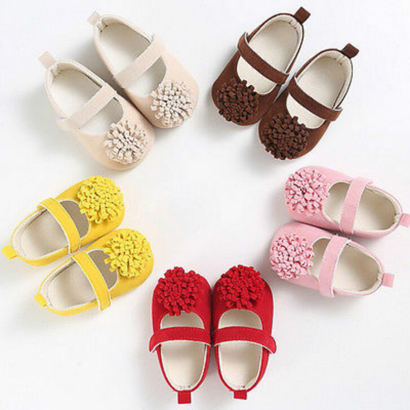 Cute Baby Gilrs Infant Kids Princess Flower Moccasins Soft Sole Shoes Infantil Newborn C ...