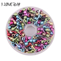 Lots 100 pcs Mixed Color Stud Spike Rivet Punk Charm Pendant Findings 12x6mm Wholesale for jewelry making