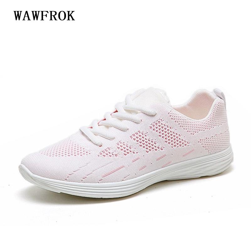 Women Sneakers 2018 Summer Women Casual Shoes Fashion Breathable Mesh Casual Women Shoes light Soft Flats Shoes