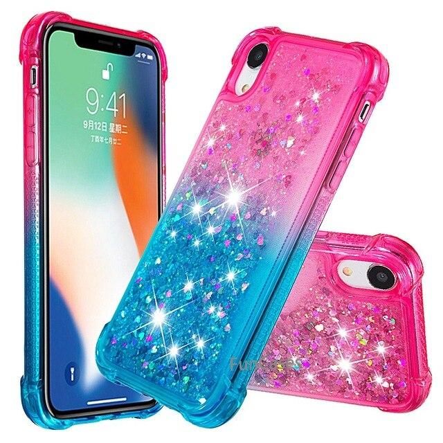 Para o iphone xr líquido duro pc claro escudo do telefone para iphone xr casos de areia movediça capa cute app ícone capa para iphone xr capa 3