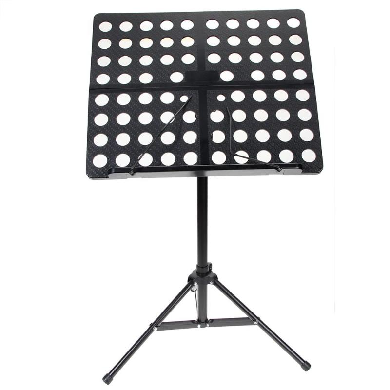 Flanger Folding Music Stand Aluminum Alloy Tripod Stand Holder with Soft Case Carrying Bag Black White Blue Pink colourful sheet folding music stand metal tripod stand holder with soft case with carrying bag free shipping wholesales