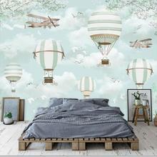 Мультфильм воздушный шар Фото Обои фреска детская комната обои 3D детская спальня домашний декор обои холст/шелковые обои