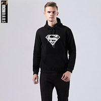 MENGDGOS 2017 Winter Superman New Hoodies Men Brand Designer Mens Sweatshirt Men With Luxury Harajuku Sweatshirt