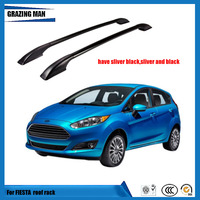 For Ford Fiesta Roof Racks Bars Side Rail Luggage Bar Travel Storage Luggage Roof Rail aluminum alloy 130cm