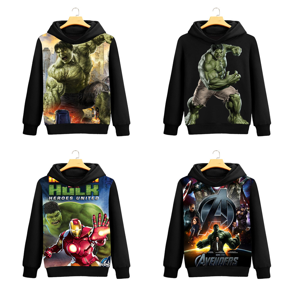 Super hero Hulk Robert Bruce Banner Cosplay Hulk Sweatshirts Cosplay Men Women fashion Cartoon printing brushed Hooded Jacket