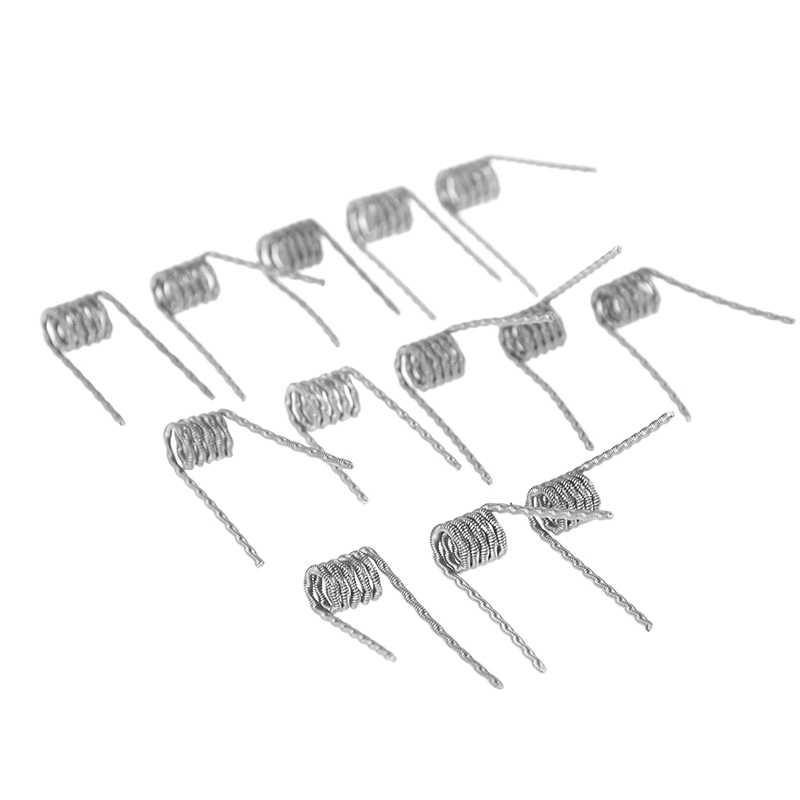 1 مجموعة الملتوية تنصهر خلية كلابتون لفائف Premade التفاف الغريبة مزيج الملتوية رباعية النمر التدفئة المقاومة Rda لفائف أداة أجزاء