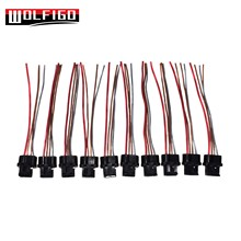 wolfigo new connector plug harness pigtail wire for chevy alternator 4-way  pt1929