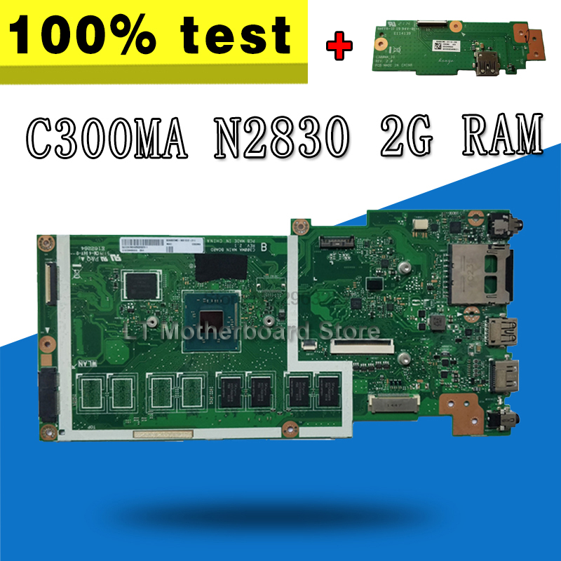 все цены на send board+C300MA Motherboard GM-2830 CPU-2G RAM For ASUS C300MA C300M Laptop motherboard C300MA Mainboard C300MA Motherboard