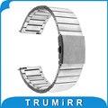 Venda de reloj de pulsera correa de acero inoxidable de liberación rápida para asus zenwatch 1 2 22mm piedra tiempo lg g watch w100 w110 urbano W150