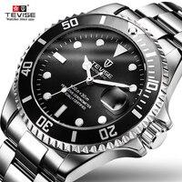 Роскошные Tevise Relogio automatico Masculino Мужчины механические часы Мода зеленый Водонепроницаемый Спорт Бизнес наручные часы мужской часы