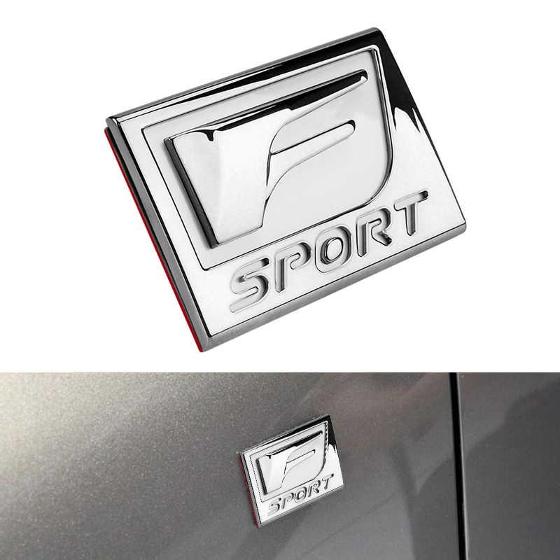 Etiqueta de la insignia del Metal 3D etiqueta del emblema del maletero trasero estilo del coche para Lexus F Sport IS ISF GS RX ES IS250 ES350 LX570 GS CT200 CT200H
