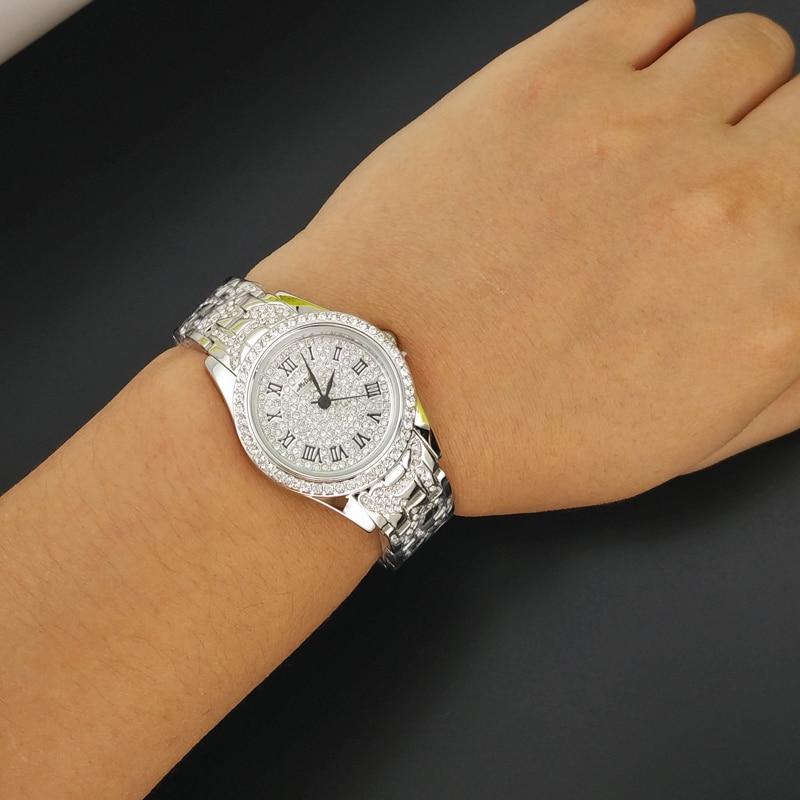 ФОТО Luxury Melissa Lady Woman Wrist watch Elegant Rhinestone CZ Fashion Hours Top Dress Bracelet Rose Gold Girl Birthday Gift 2700
